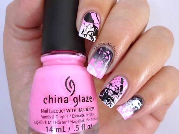 #PPSANailChallenge Pink nail art