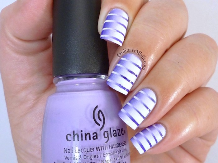 #PPSANailChallenge Purple nail art
