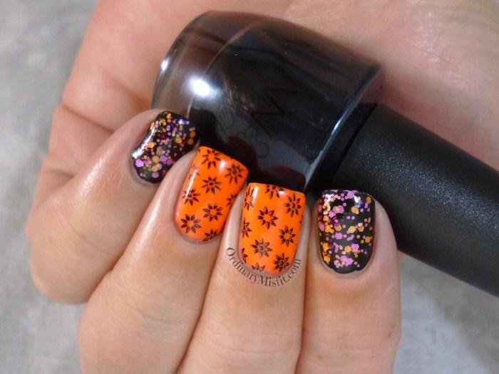 Neon & black nail art 2