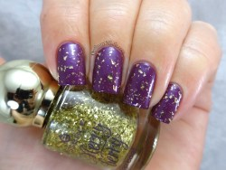 Essence - I love my golden pumps (Over purple with purpose)