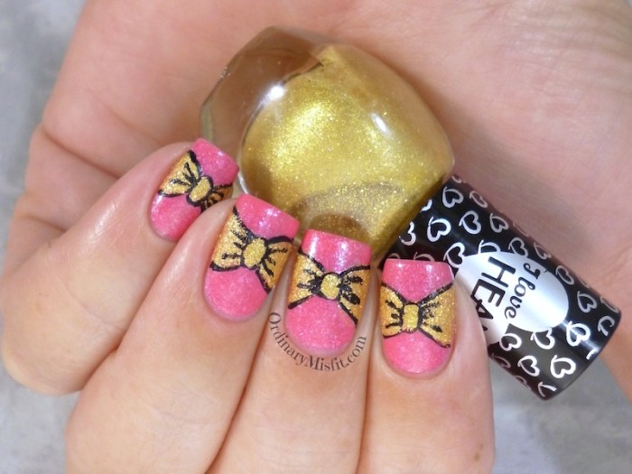 Hean I love Hean sugar #852 and #856 with nail art