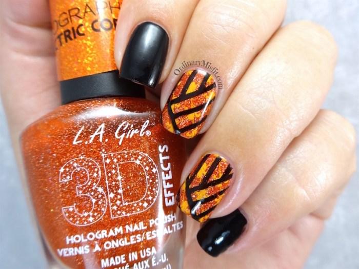 Black and orange stamping