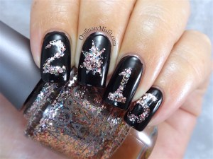NailLinkup New Years eve nail art