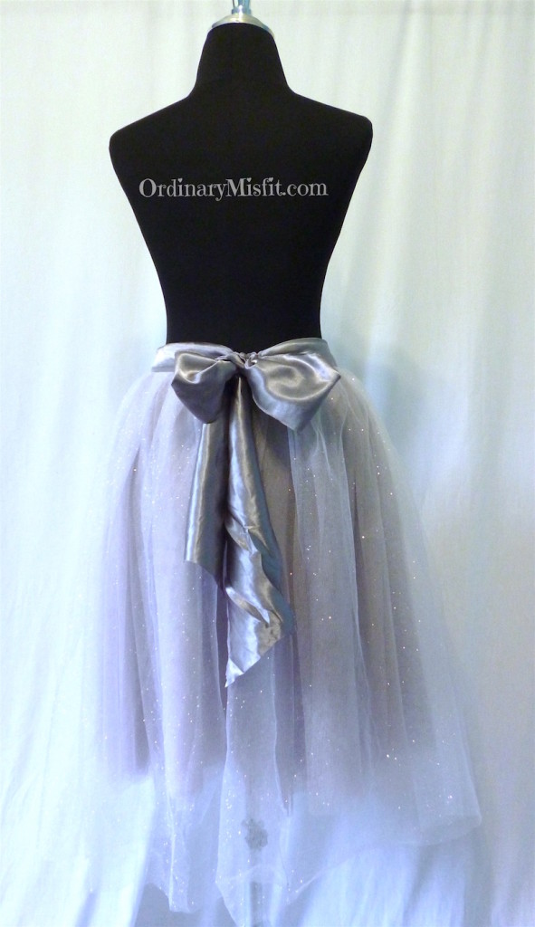Silver : grey adult tutu back