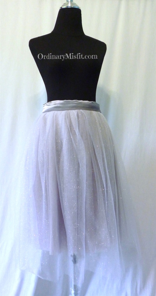 Silver : grey adult tutu front