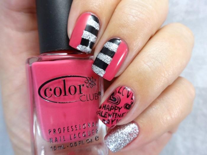 NAILLinkup Feb Valentines day nail art