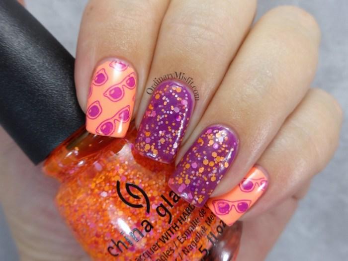 It's so bright, you need sunnies nail art