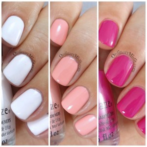 NailCandi review - China Glaze house of colour, 3 swatches