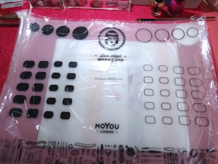 NailCandi review - MoYou magic workshop stamping mat in plastic
