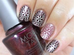 Rebel stamped nail art