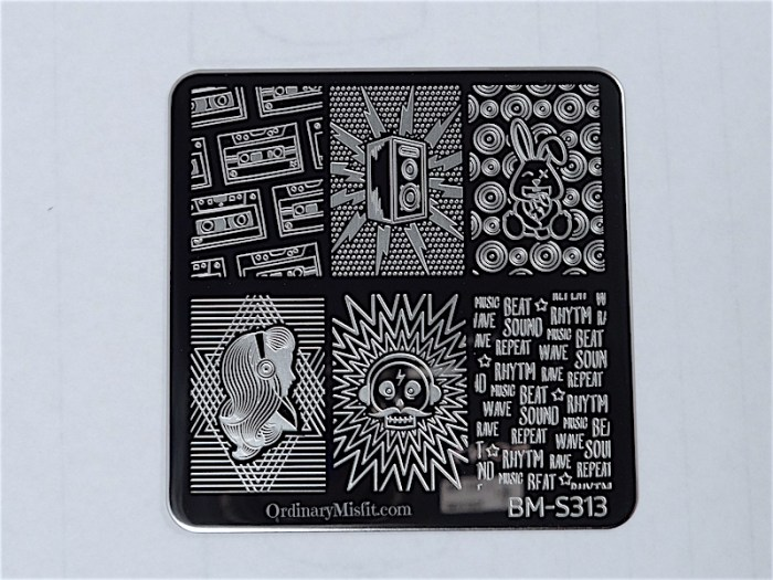 Bundle Monster Musik City stamping plates  BM-S313