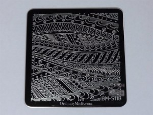 Bundle Monster Paisly Flow stamping plates BM-S118