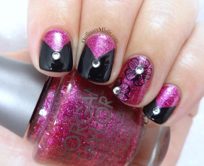 J'adore some black nail art