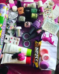 The contents of my secret santa box from polishportfolio Blownhellip