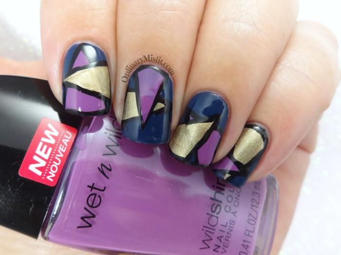 Colour block nail art