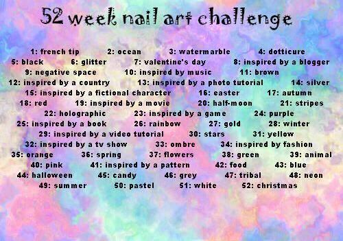 52 week nail art challenge Poster