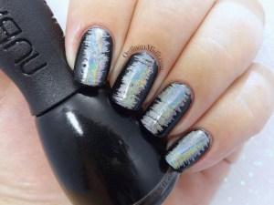 Wispy holo nail art