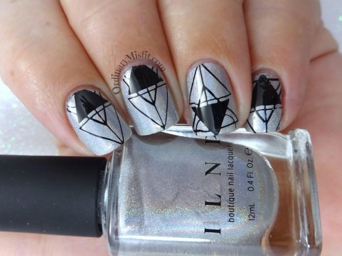 52 week nail art challenge - Holographic
