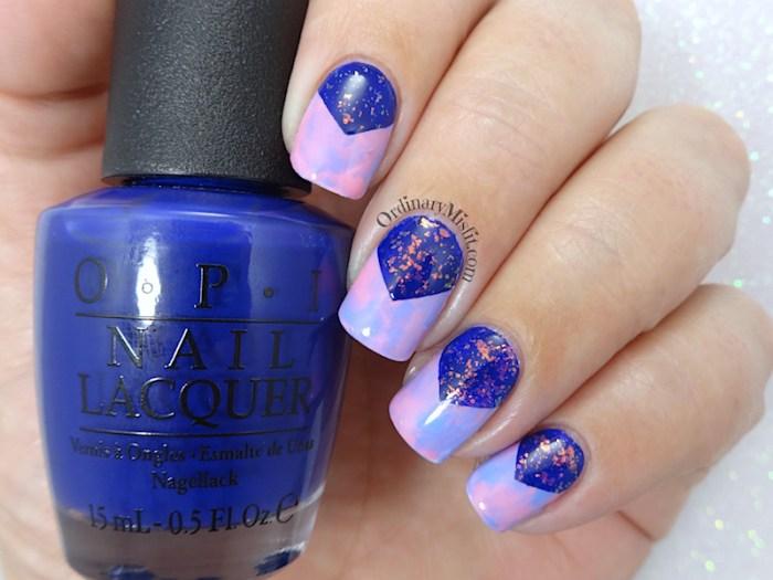 Galaxy smoosh nail art