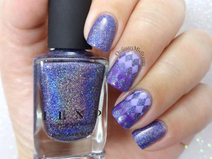 52 week nail art challenge - Purple 3