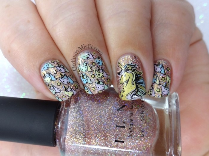 Unicorn power nail art