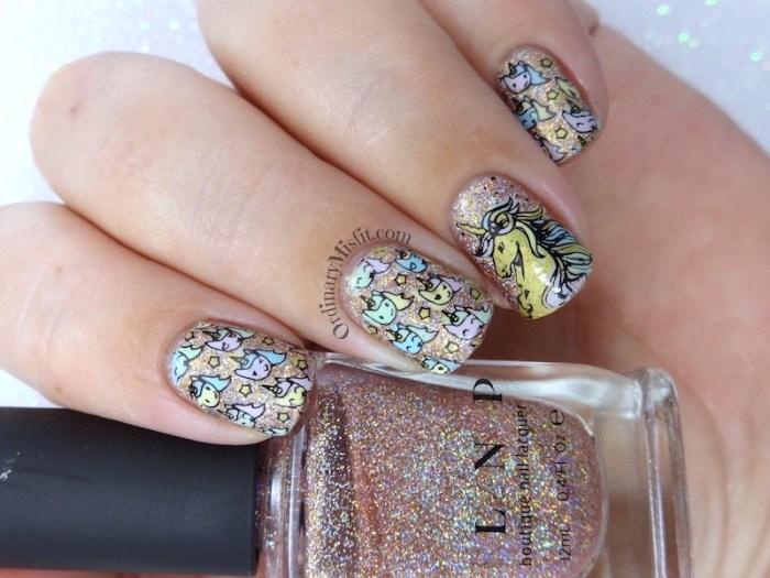 Unicorn power nail art