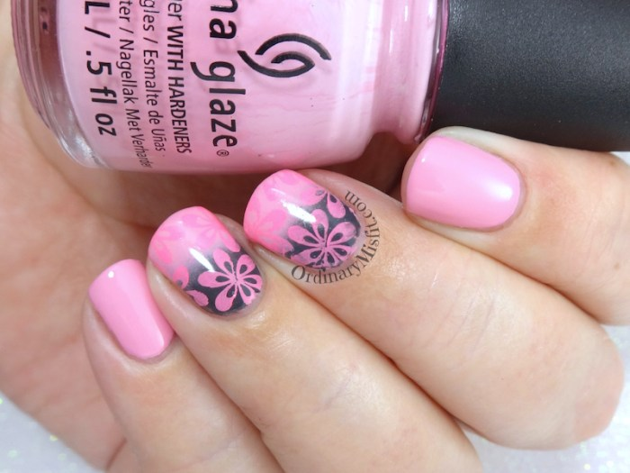 52 week nail art challenge - Pink