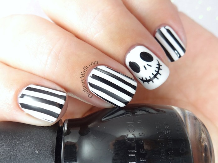 Jack skellington nail art