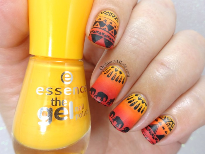52 week nail art challenge - Tribal