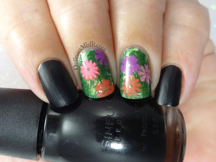 Flower forest nail art