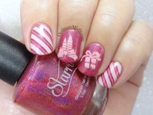 Merry Pinkmas nail art