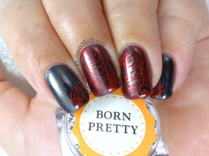 Born Pretty Store Black Chrome pigment powder nail art