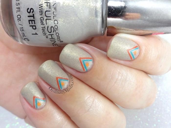 Arrowed prosecco matte nail art