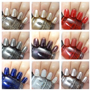 China Glaze Glam Finale collecction collage