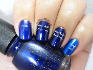 Comparison China Glaze - New year, new boo vs Smudge - Navy seal vs Hean 466
