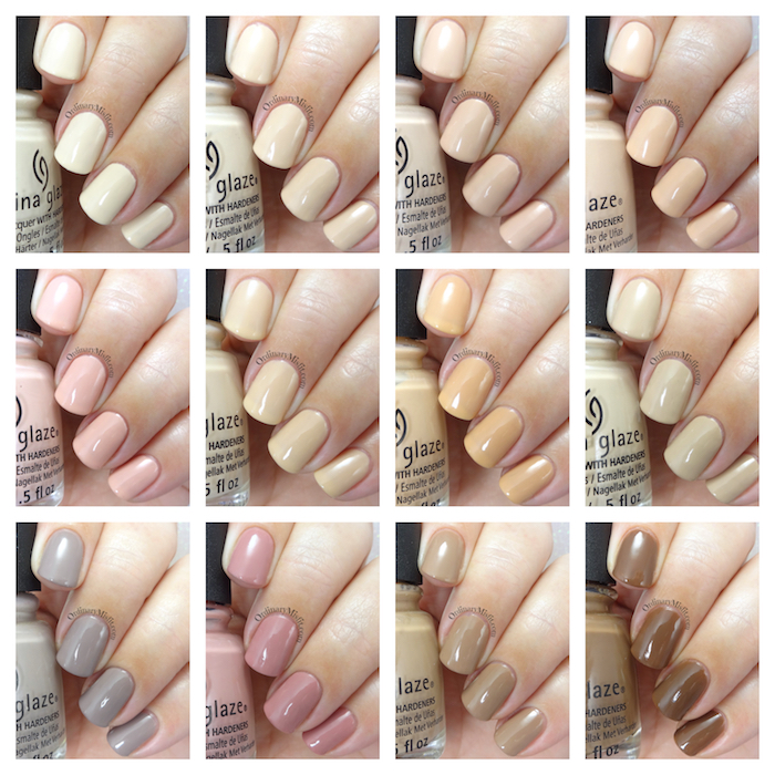 China Glaze - Shades of nude collection