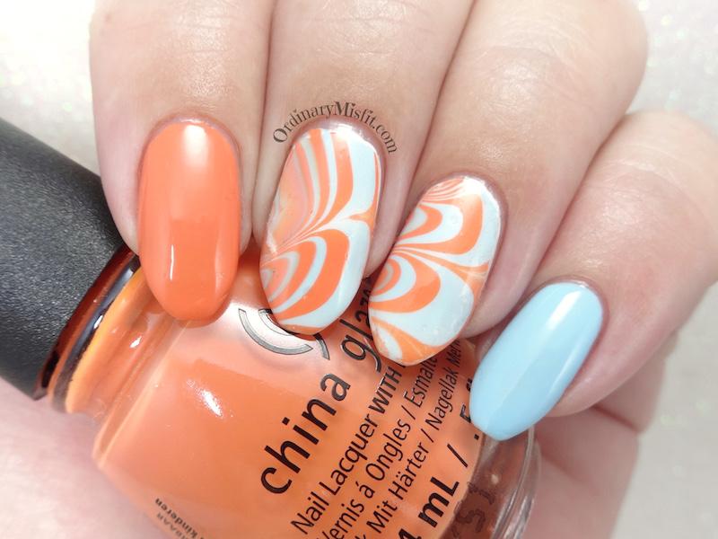 52 week nail art challenge - Week 10: Water marble