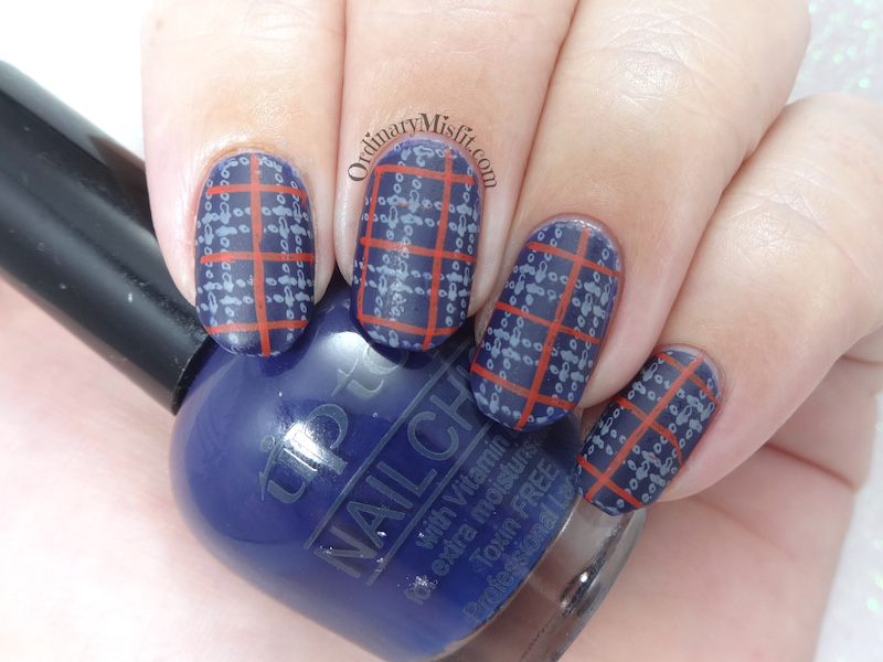 52 week nail art challenge - Week 18: Plaid