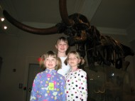 The girls and a mastadon