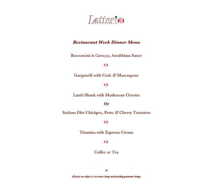 Latteria menu1
