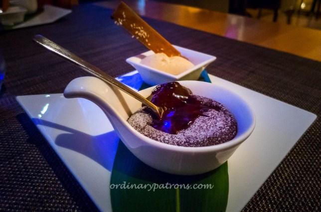 Osia's Valrhona Hot Chocolate Soup