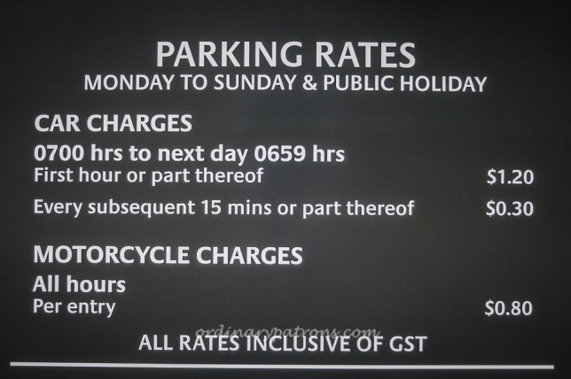 Carpark Charges @ Eastpoint Mall