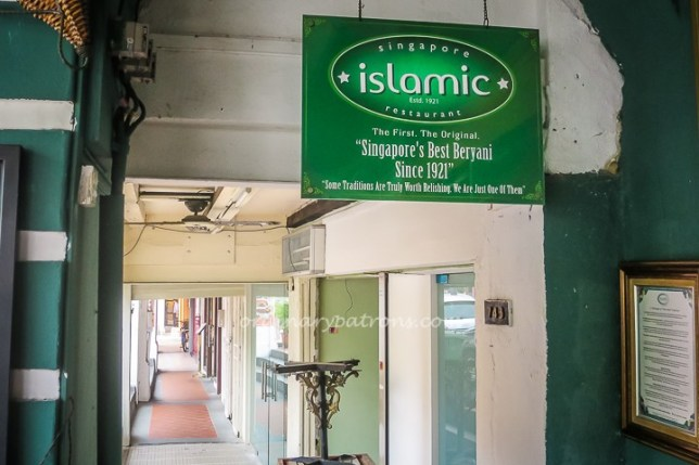Singapore Islamic Restaurant Best Bryani
