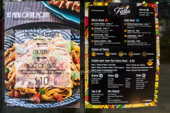 Menu Fasta at South Beach Avenue