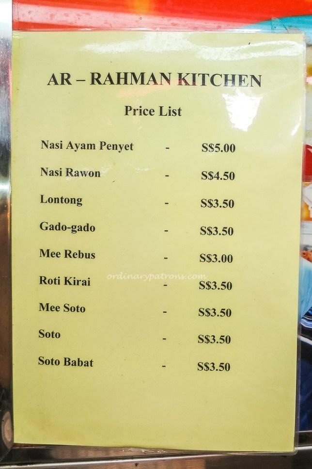 Alrahman Kitchen Menu