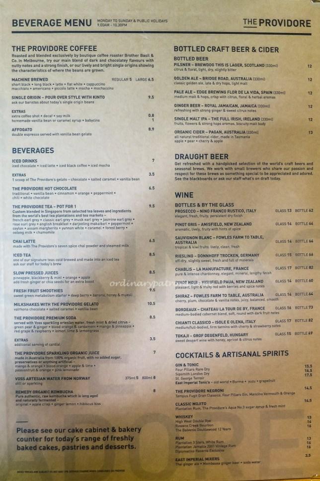 providore mandarin gallery menu