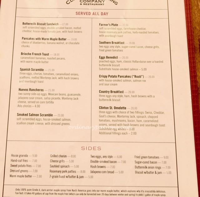 clinton street bakery singapore menu