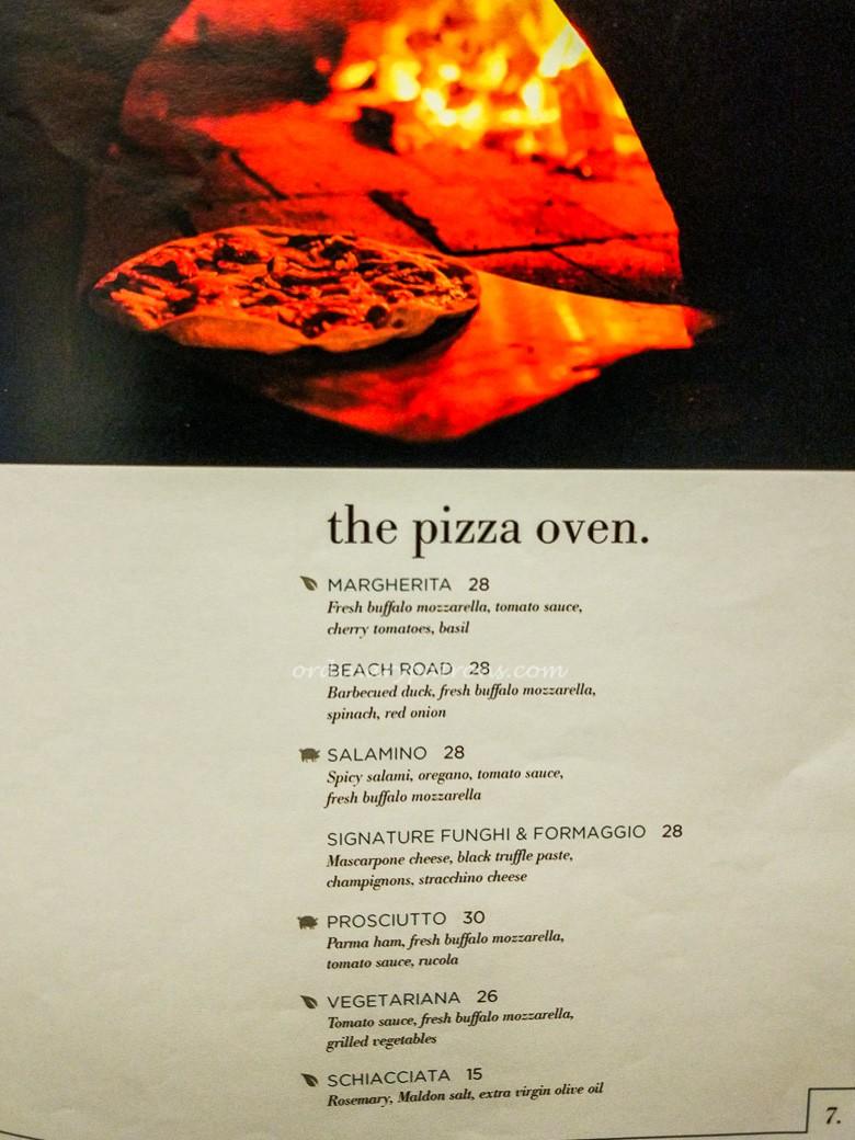 Pizza Menu of Beach Road Kitchen