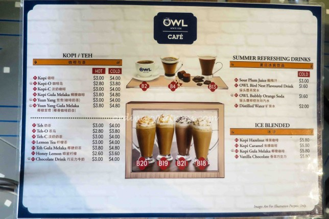 Owl Cafe Menu