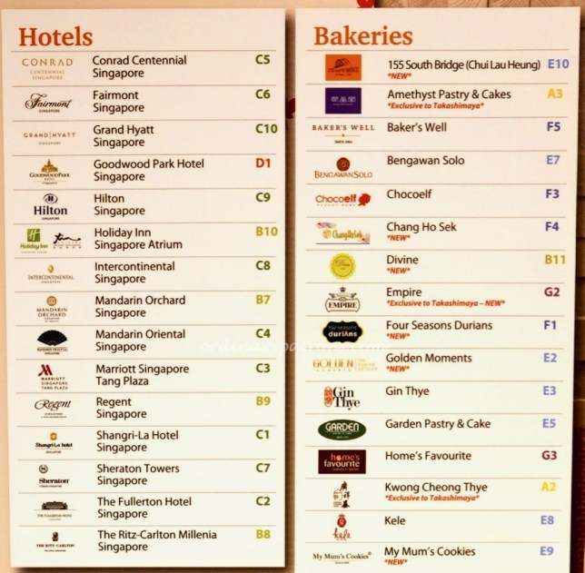 Takashimaya mooncake fair 2017 ngee ann city the for List of independent hotels